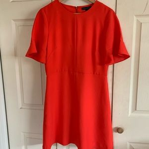 Orange red Banana republic dress